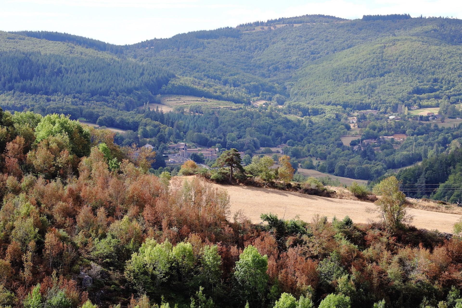 Le Serre de la Roue depuis le Col du Mazel