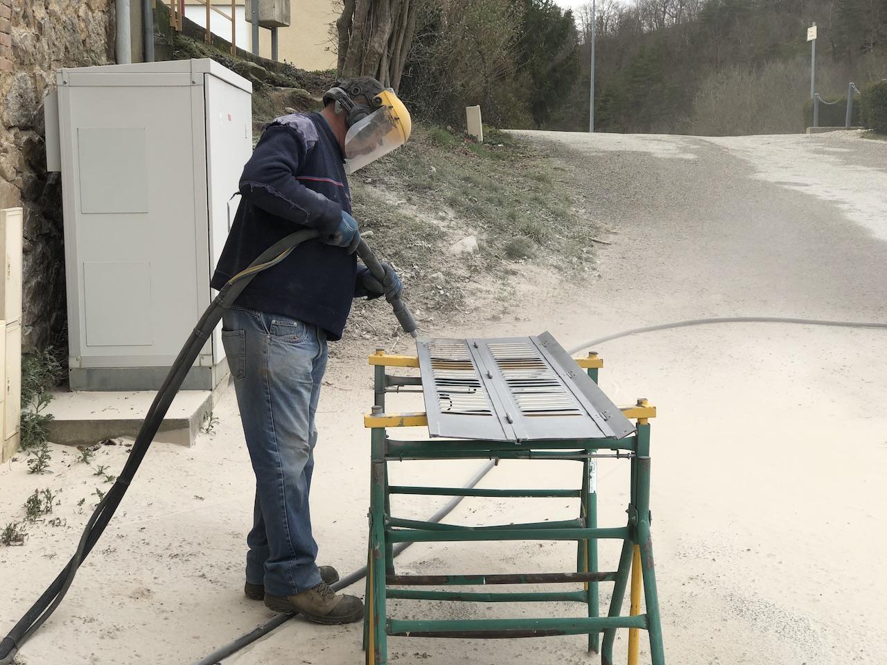 Jean-Paul Julien en plein travail