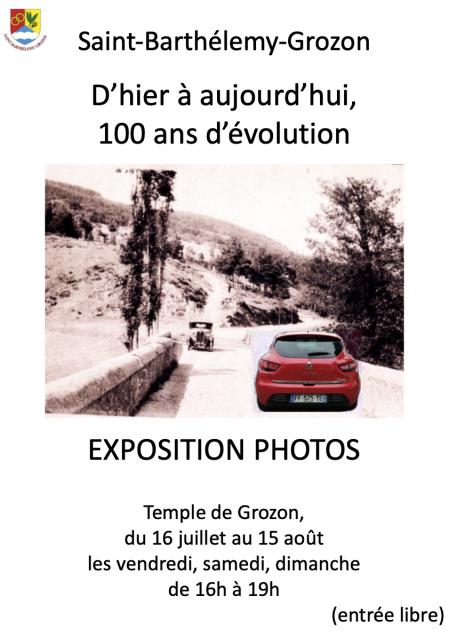 Affiche a3 expo photos d hier a aujourd hui renault pas che re rev3