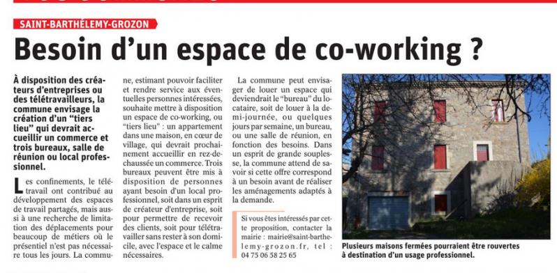 Article sur coworking dl du 12 avr 21