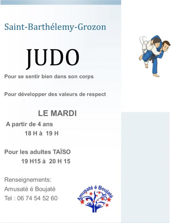 Reprise Judo et Taïzo