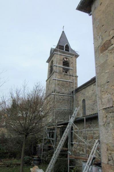 Echaffaudage clocher saint barthe lemy 09 dec 20