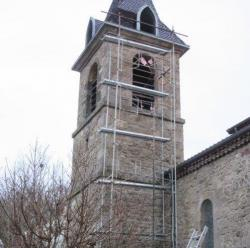 Echaffaudage clocher saint barthe lemy carre e