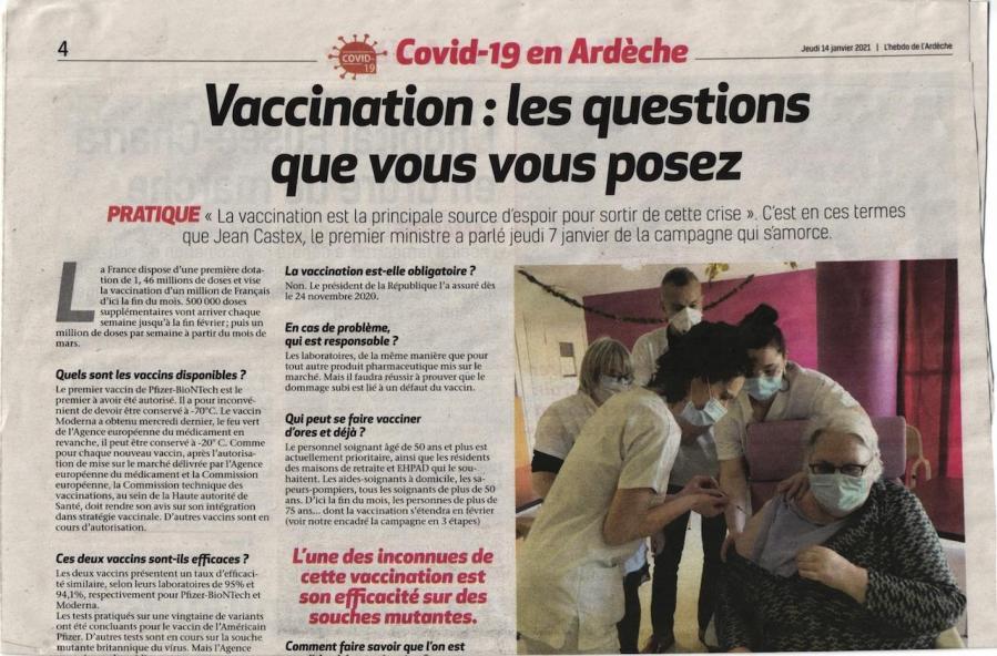 Infos vaccination hebdo arde che p1 13 jan 21