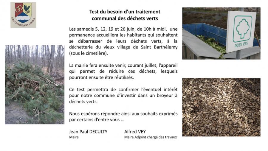 Test de la collecte des de chets verts